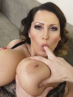 Huge breasted MILF having fun in POV style