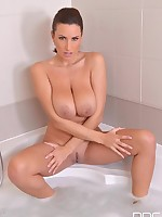 Sensual Bathroom Show - Hot Busty Babe Masturbates in Bathtub free photos and videos on DDFBusty.com